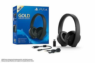 Cuffie Gold Wireless Sony Ps4 2.0 Stereo Headset Nero