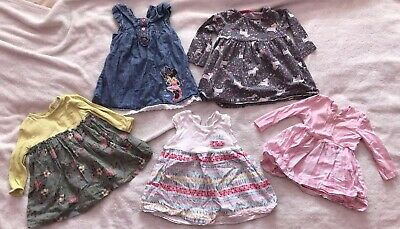 Beautiful Bundle Of Baby Girls Dresses Age 6-9 Months Inc. Next, F&F, George