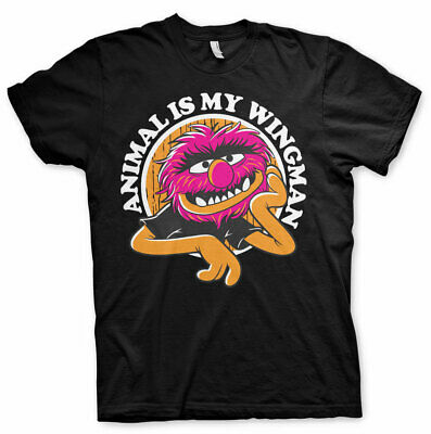 Officially Licensed The Muppets - Animal Is My Wingman Men's T-Shirt S-XXL Sizes