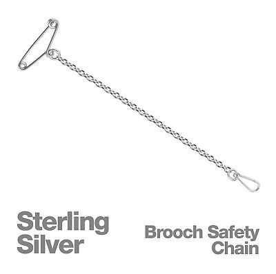 Sterling Silver Brooch Safety Chain OR Spare Pins and Clips