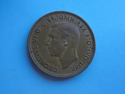 1943 Halfpenny, George VI. Good Condition.