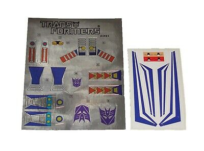 G1 Hardhead Complete Sticker Decal Sheet