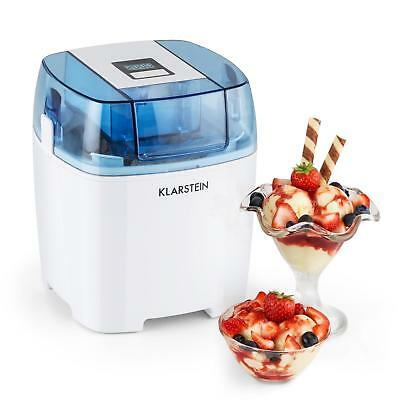 Klarstein Creamberry Machine A Glace Bac Isotherme Yaourt Glace 1,5L - Blanche