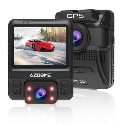 AZDOME HD 1080P Dual Lens Car DVR Dash Cam Front and Rear Camera Video Recorder