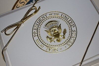 Trump Presidential Seal Note/Thank You Cards~Gorgeous~New White House Item