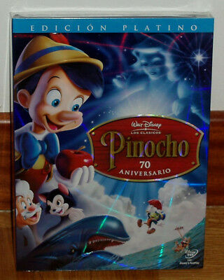 Just Give a Little Whistle Pinocchio Disney New Sealed 2 DVD W/Slipcover 70