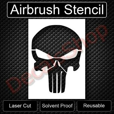 Punisher Skull Airbrush Reusable Stencil Spray Paint Template Art Free Shipping