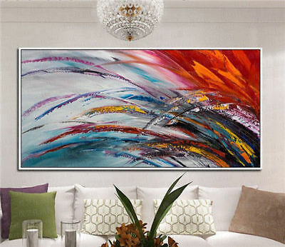 Large hand painted oil painting Modern Abstract Art Decor No Frame 24*48in new