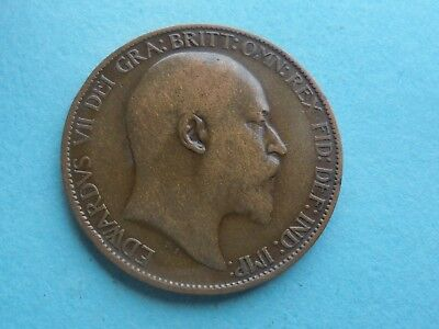 Edward VII 1907 Halfpenny, Good Condition.