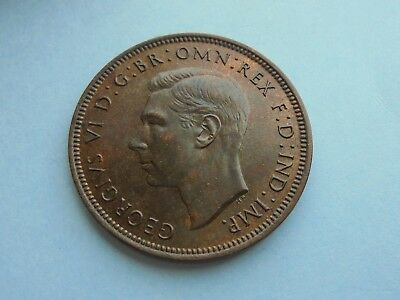 1938 Halfpenny, George VI. Great Condition.