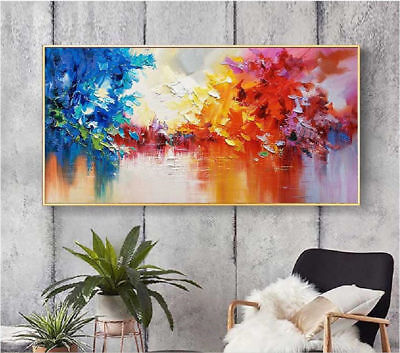 Large Modern 100% Hand-painted abstract landscape oil painting On canvas free