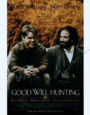 Robin Williams Matt Damon Good Will Hunting 8x10 signed Photo autographed COA