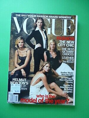 VOGUE US November 2000 CARMEN KASS Angela Lindvall Kirsty Hume FRANKIE RAYDER