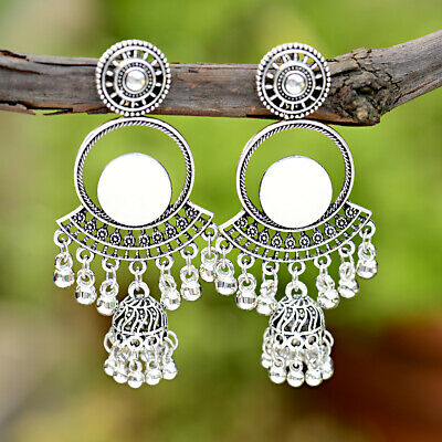 "Fashion 3"" Women's Vintage Bohemian Ethnic Style Full Moon Dangle Earrings Gifts"