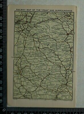 1899 - Bartholomew Railway Map of 'The Peak District' and Surroundings - Derbys.