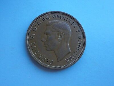 1946 Halfpenny, George VI. Good Condition.