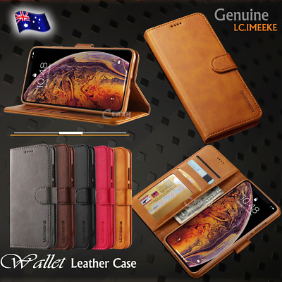 iPhone XS Max XR 8 7 6s Plus Luxury Magnetic Leather Removable Wallet Case Cover