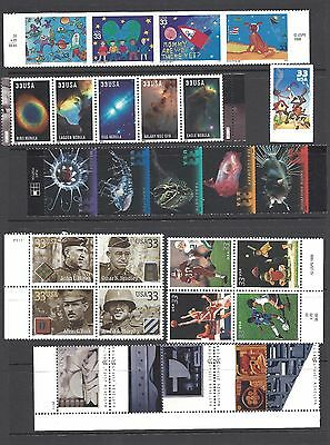 US 2000 Commemorative Year Set with 39 Stamps MNH