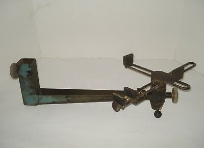 Vtg Long-Arm Rotating Swivel Circuit Board Cross-Double Clamp Workholding Vise