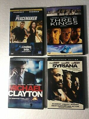 George Clooney 4-DVD LOT:  Peacemaker/Three Kings/Michael Clayton/Syriana