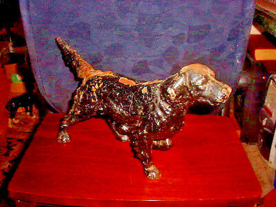 Antique 10 Pound Cast Iron Hunting Dog Door Stop