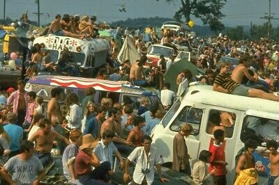 Woodstock 1969 (2) 4x6 Glossy Photos+ (3rd) Free Overhead View of Crowd Photo