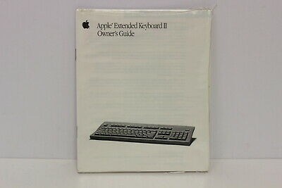 Apple Extended Keyboard Ii Owner's Guide 030-1701-A New