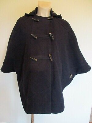 Red Herring Maternity Stylish Navy Blue Cape Shrug Jacket Coat Size 10