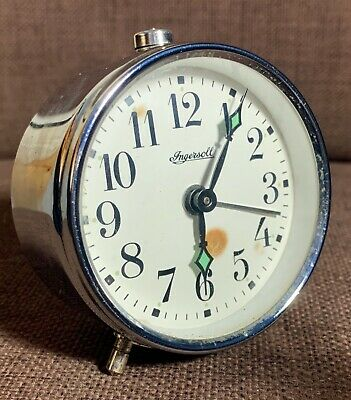 VINTAGE INGERSOLL Wind Up ALARM CLOCK, MADE IN LONDON, ENGLAND (Working)