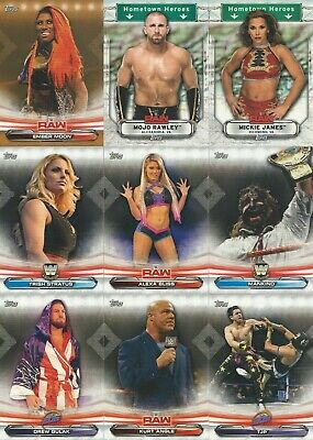 2019 Topps WWE Raw U Pick- Base, Inserts, Parallels Free Shipping