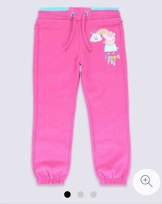 BNWT Marks & Spencer Pink Peppa Pig Cotton Joggers Size 5-6 yrs