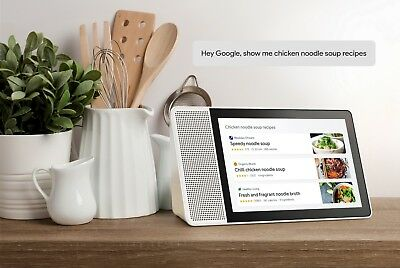 """Lenovo 10.1"""" Smart Display with Google Home Assistant - White/Bamboo Brand New!"""