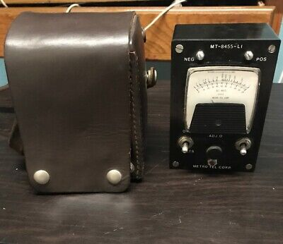 Mt-8456 Metro Tel. Corp. Ohm And Volt Kick Meter With Leather Case-