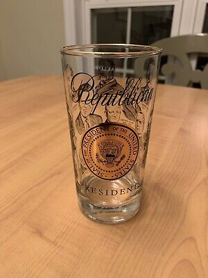 1969 Republican Presidents Glass With Golden Seal Of The President Of The Usa.