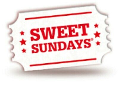 Sweet Sunday codes for 1 x cinema tickets:Cineworld Empire Showcase Reel etc