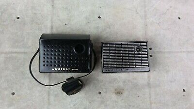 Vintage 1960's Admiral Portable 8 Transistor Radio (Tested Works)