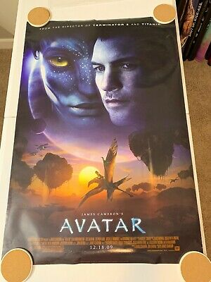 """AVATAR Original Movie Poster 27"""" X 40"""" DS/Rolled - 2009 - JAMES CAMERON"""