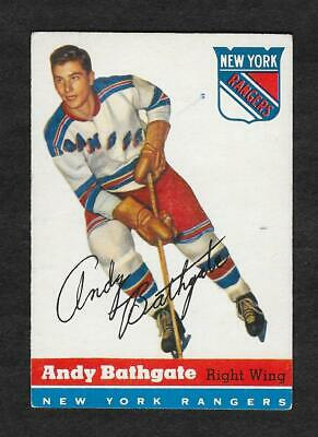 """1954 Topps Hockey #11 Andy Bathgate - Poor (Pen Mark On Front) Otherwise """"Ex"""""""
