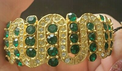 Vintage KJL for Riviera Kenneth Jay Lane Rhinestone Jeweled Hair CLIP  WITH TAG