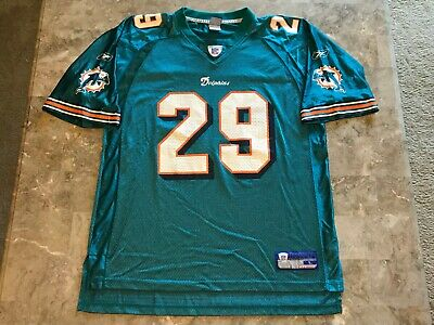 ccdca207b32 Sam Madison #29 Miami Dolphins NFL Teal Reebok Jersey Adult Size Large  Vintage
