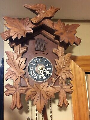 German made Schmeckebecher 1 Day Cuckoo Clock.  Good Condition.