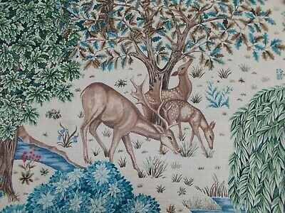 William Morris Curtain/Upholstery Fabric 'THE BROOK' 0.6 METRES (60cm) Linen