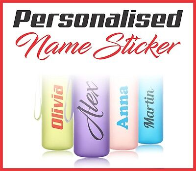 10 x Personalised Water Bottle Labels / Stickers / Name Labels / Gym / Bike