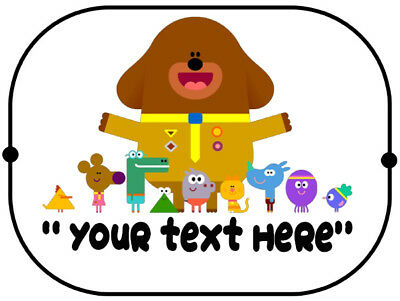 X2 Personalised Hey Duggee car sun / sunshine shade sunshade
