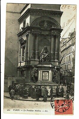 CPA - Carte Postale-FRANCE- Paris--Fontaine de Molière-1907 VM3355