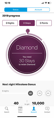 Hilton Honors Diamond Membership (90 days trial w/ 8 Stays extended to Mar 2021)