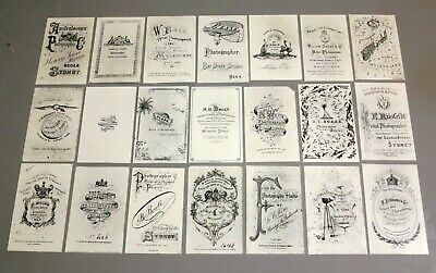 Rare Collection of 19th Century Australian Photography Business Trade Cards