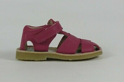 Petasil Clover fuxia leather girl's sandal with enclosed heel and toe