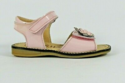 Petasil Lia baby pink patent leather girl's sandal with adjustable toe strap
