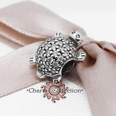 Authentic 925 Sterling Silver Sparkling Sea Turtle Animal Bracelet Charm